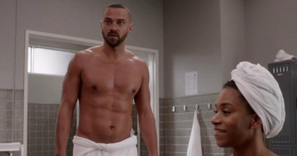 Jackson Avery Shirtless In Towel Out Of Shower Grey's Anatomy