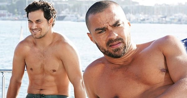 Andrew DeLuca And Jackson Avery Shirtless On Yacht Season 14 Grey's Anatomy
