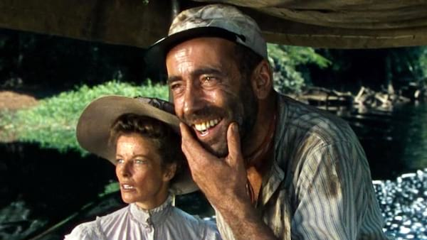 movies, celebs, the african queen, 1951, Humphrey Bogart, Katharine Hepburn