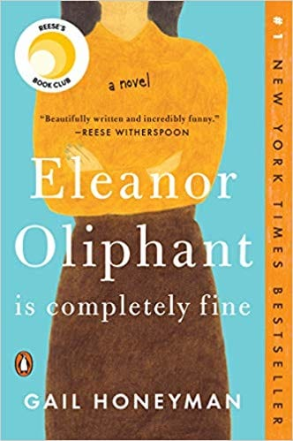Book cover for Eleanor Oliphant Is Completely Fine.