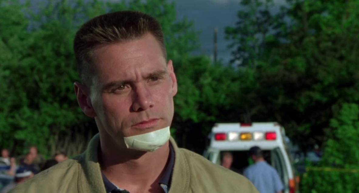 Jim Carrey in the movie Me, Myself and Irene