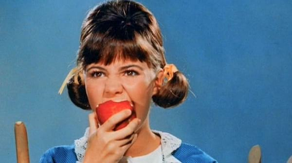 Young Sally Fields in TV show \Gidget\. sally fields, baby boomers, history, think, quiz, food, eating, Vintage, hero, sally field, Gidget