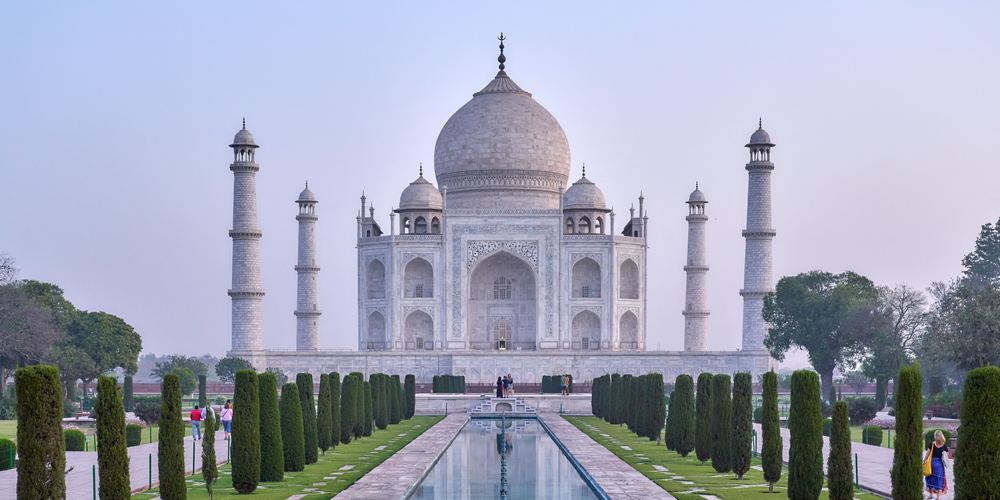 The entrance view of the Taj Mahal in India, Taj Mahal Instagram Captions, travel, culture