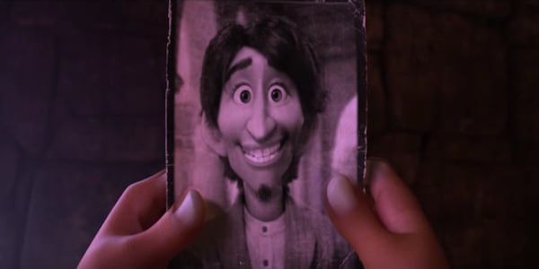 Hector's real life picture from Pixar's Coco held by Miguel., movies