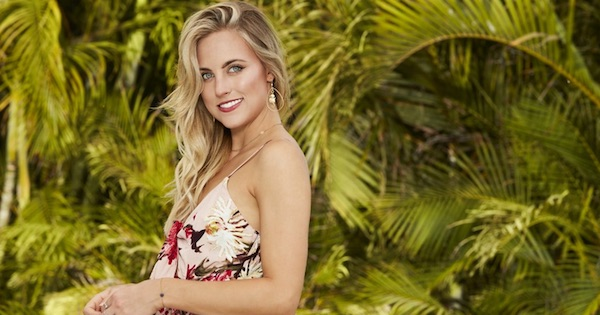 Kendall Long Smiling By Trees outside Bachelor in Paradise season 5