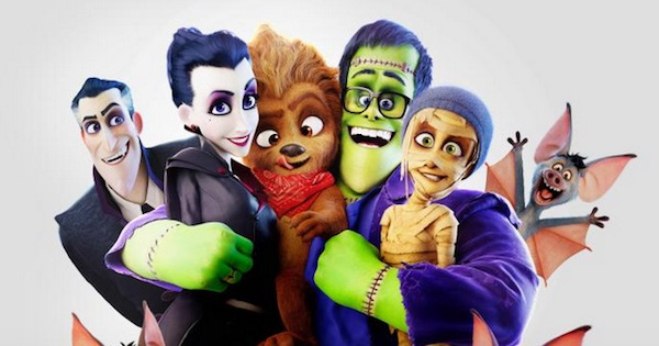 Monster Family movie animated characters smiling