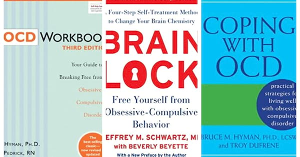 Book covers for OCD self help books.