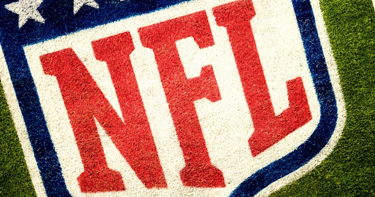 The NFL logo painted onto an American Football field, New Orleans Saints Instagram captions, culture