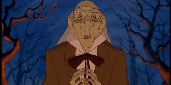 movies, Monsuer D'Arque from Disney's Beauty and the Beast concocting a diabolical plan
