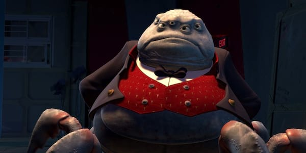 movies, Mr. Waternoose from Pixar's Monsters Inc. stands authoritatively