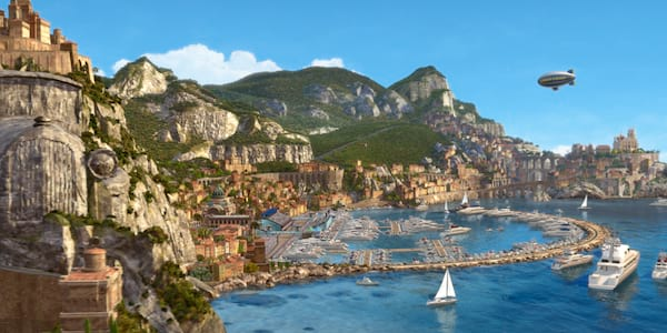 A scene of Italy from Pixar's Cars 2, movies