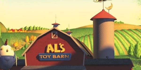 A scene of Al's Toy Barn from Pixar's Toy Story 2, movies