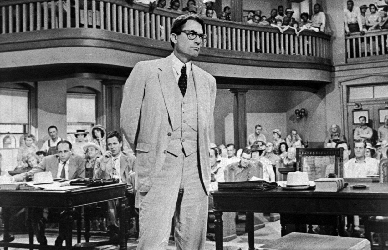 Atticus Finch in the courtroom