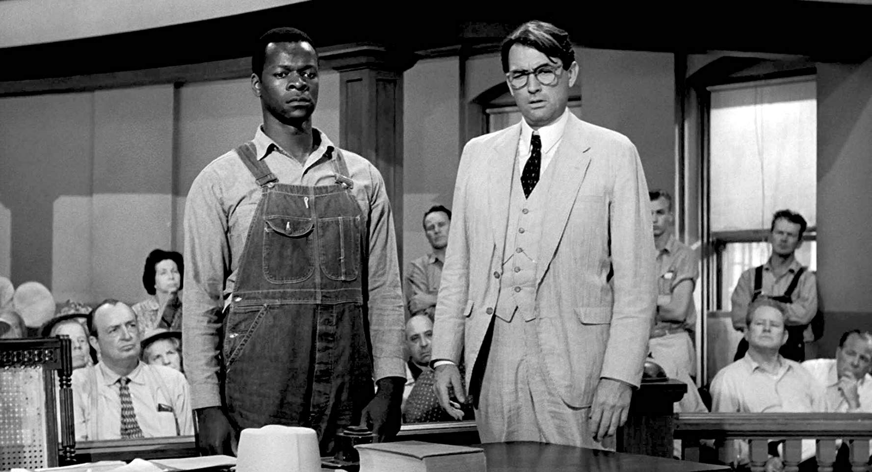 Tom Robinson and Atticus Finch during the trial