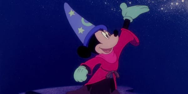 Mickey Mouse controlling magic in Disney's Fantasia, movies