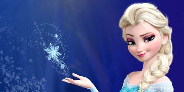 Elsa from Disney's Frozen standing confidently casting some ice magic, movies