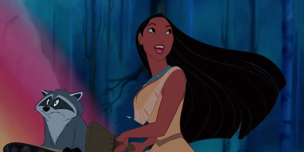 Pocahontas and her forest friend from Disney's Pocahontas, movies