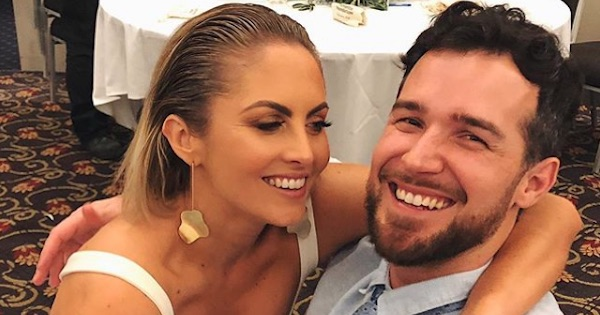 Nikki Gogan smiling with boyfriend Bachelorette 2019