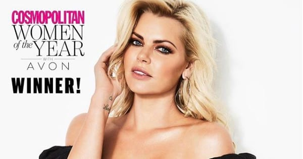 Sophie Monk on cover of Cosmo magazine Bachelorette 2019