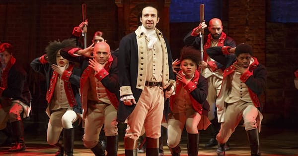 Lin Manuel Miranda and Hamilton cast performs \Alexander Hamilton\