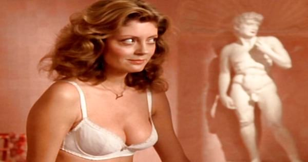 Susan Sarandon iconic bra scene in The Rocky Horror Picture Show