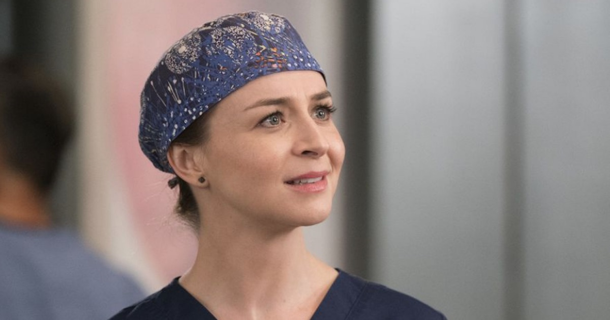 Amelia Shepherd looking up close up, Grey's Anatomy season 15