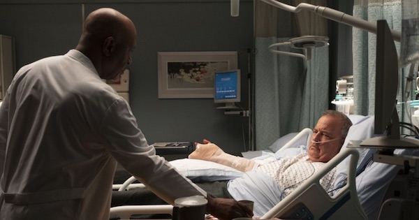 Richard Webber over patient in hospital bed, Grey's Anatomy season 15