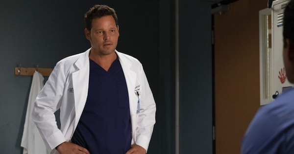 Alex Karev standing up lookng ahead, Grey's Anatomy season 15