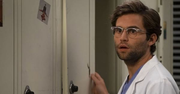 Grey's Anatomy season 15, Jake Borelli looking surprised