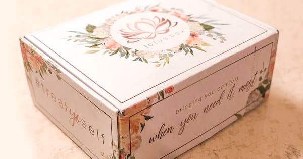 period pms subscription box, lotus box review