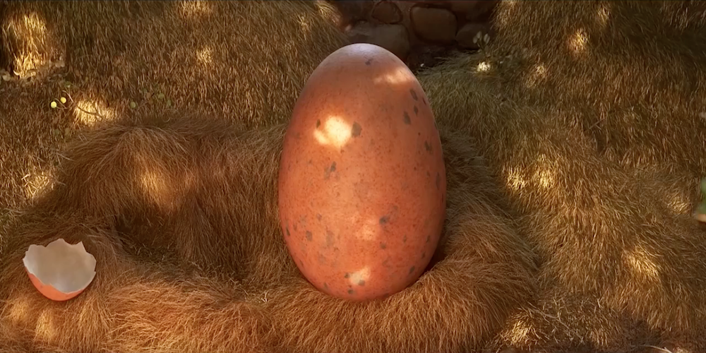 Arlo's unhatched egg from Pixar's The Good Dinosaur., movies