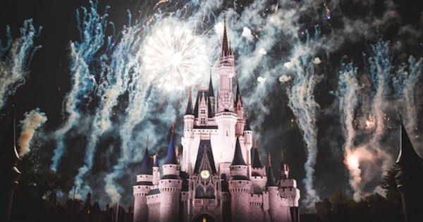 Disney castle at night with fireworks, Disney Park ranking