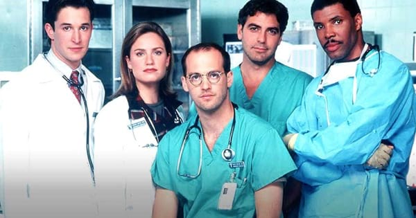 the doctors of ER lined up standing in scrubs, best medical shows on tv ranking