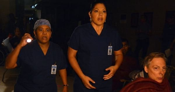 Callie Dr, . Bailey holding flashlight and patient, Grey's Anatomy ranking