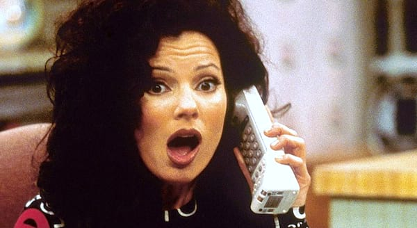The Nanny, fran drescher, jewish, italian, shock, phone