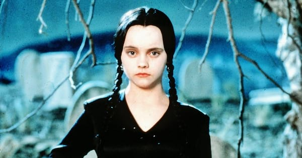 Wednesday Addams Instagram Captions, close up of Wednesday Addams, pop culture, movies