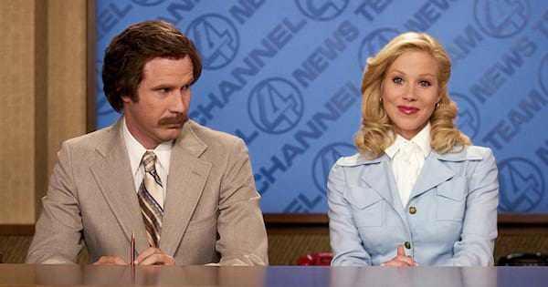 Will Ferrel and Christina Applegate in Anchorman