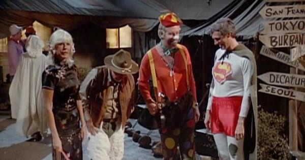 M*A*S*H characters dressed up in costume for Halloween, tv entertainment