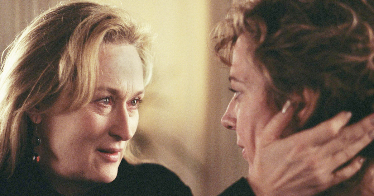 Meryl Streep consoling Allison Janney in The Hours (2002)