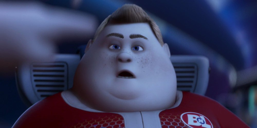 John from Pixar's WALL-E looking tired and confused, movies