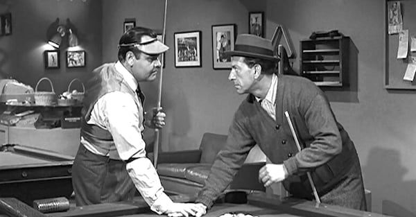 tv, The twilight Zone, a game of pool, jonathan winters, jack klugman