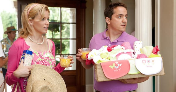 Elizabeth Banks at a baby shower in What to Expect When You're Expecting