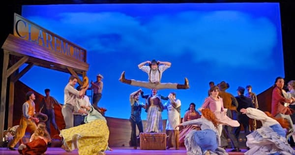 Oklahoma! musical stage with actors, rankig
