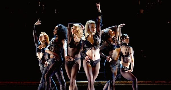 Chicago musical women on stage dancing in black, ranking