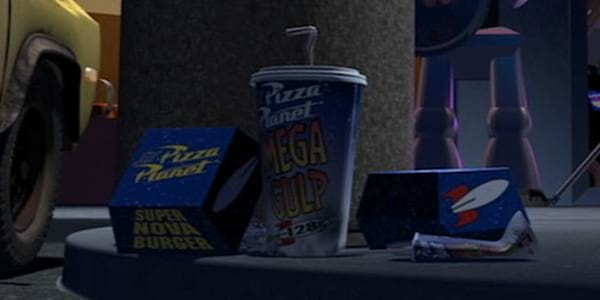 Some items from Pizza Platen from Pixar's Toy Story, movies