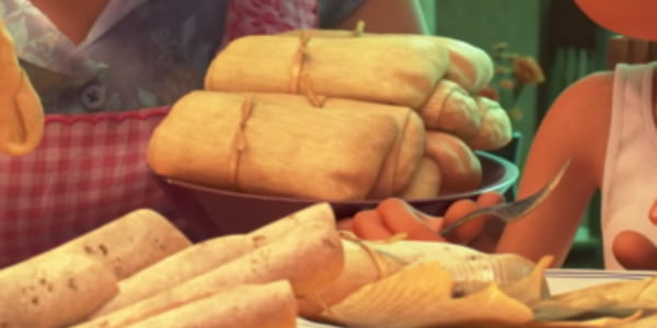 A plate of tamales from Pixar's Coco, movies