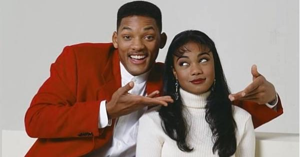 Will Smith and Tatyana Ali sitting smiling happy tv show, ranking celebrity