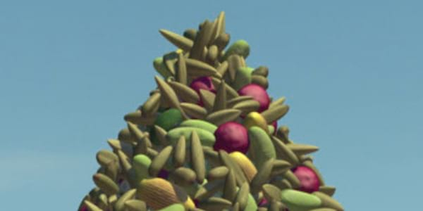 The food pile from Pixar's A Bug's Life, movies