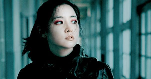 Asian woman dressed in black Lady vengeance, movie