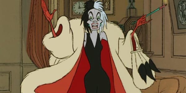 Cruella De Vil from Disney's 101 Dalmatians, movies